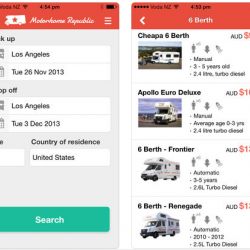 IOS App- P2P on renting, motorhome, RV, or campervan holiday
