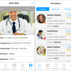 Service Provider App (Health, beauty, Tutor)