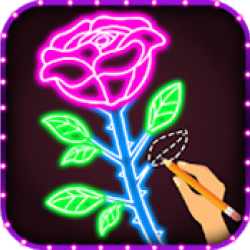 How to Draw Glow Flower Step by Step for Beginners