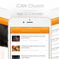 ICAN Church App made for client