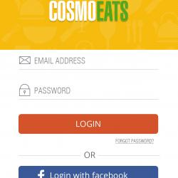 Cosmo Eats - A food delivery application