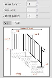 Balustrade + Stair Calculator