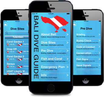 Dive Sites Guide iPhone/iPad App of Bali for Divers