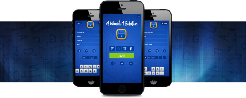 4 Words 1 Solution - Spelling Game Application