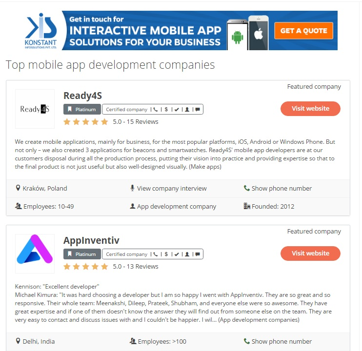 Steps to hire the best mobile app development company