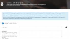 Private projects now open to all app developers on AppFutura