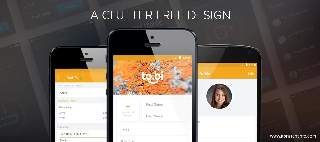 A clutter-free design