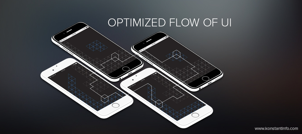 Optimized flow of UI