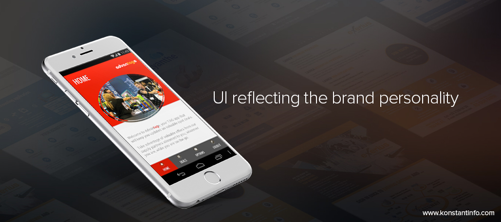 UI reflecting the brand personality
