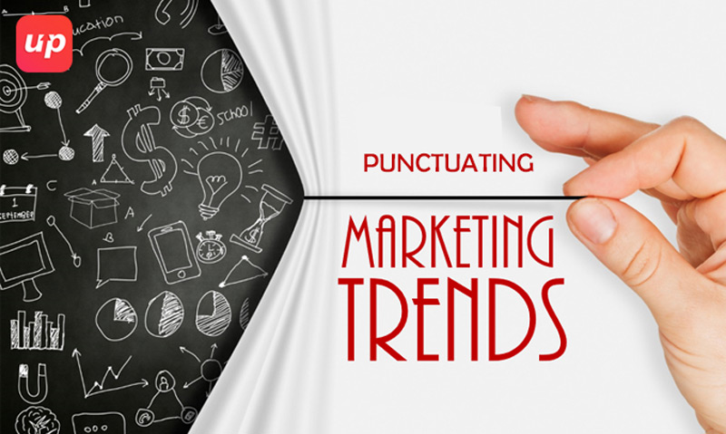 Punctuating marketing trends by visual approach