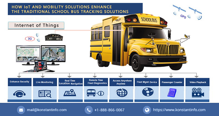How IoT and Mobility Enhance the Traditional School Bus Tracking Solutions