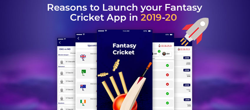 Reasons to Launch your Fantasy Cricket App in 2019-20