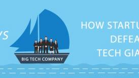 How can startups compete against tech giants?
