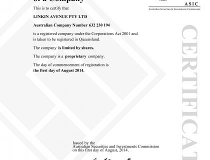 Registration Certificate Qld Certificate of Registration of