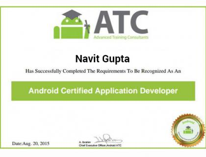 Android Certificate - Best Design Sertificate 2018