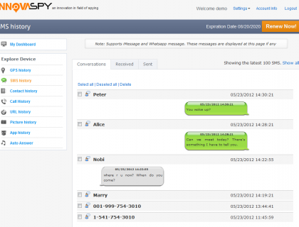 INNOVASPY - Monitor Cell Phone Software work